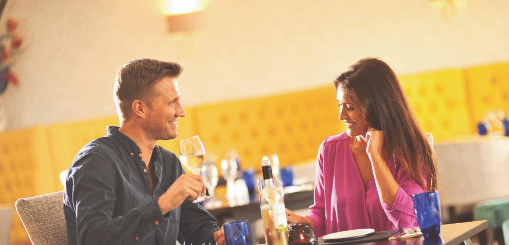 Couple Dining in The Cliffs Restaurant